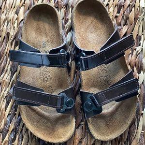 Birkis Birkenstock Brown Patent Sandals